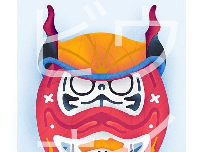 Daruma - Series 4/6 vector france posca japan sketch montreal drawing flatdesign canada illustrator artwork illustration graphic graphicdesign design animation artsy digitalart art
