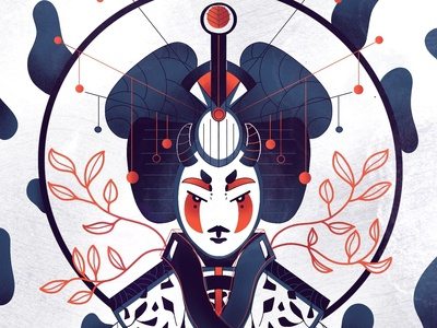 Geisha 2/3 - Full illu on my instagram @Bewoy