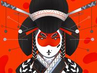 Geisha 3/3 - Full illu on my instagram @Bewoy