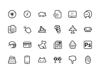 Simplicity Vector Icon Set icons picto pictogram glyphs icon