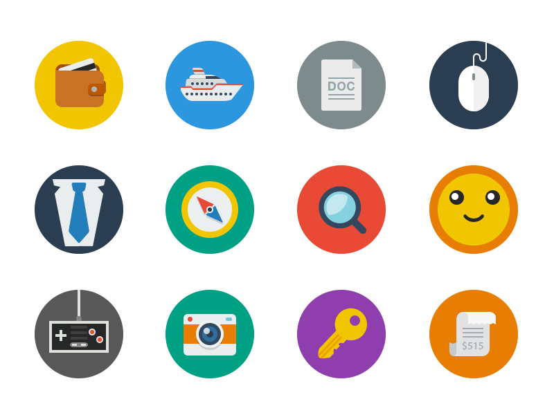 Coming Soon... icons icon flat color psd png