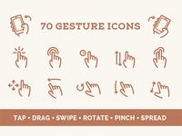Gesture Vector Icon Set