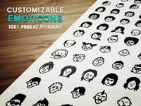 Avatars & Emoticons Vector Set