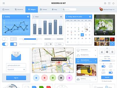 Modern UI Kit ui psddd kit uikit free download psd