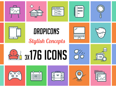 Dropicons - 176 Stylish Concepts icons icon dropicons design psd png vector