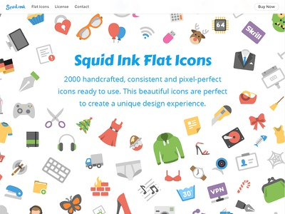 Squid Ink Redesigned design iconset freebie svg ai eps psd icon icons