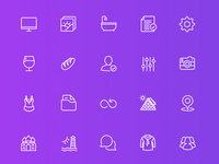 Squid Ink Line Icons