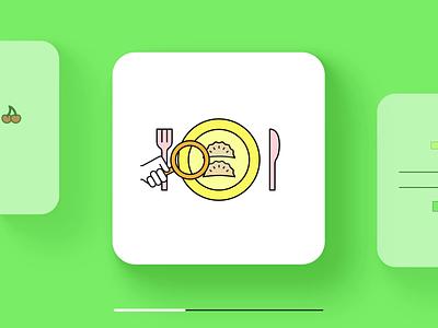 Foodsi App - Animations motion graphics illustration motion app animation after effects foodsi