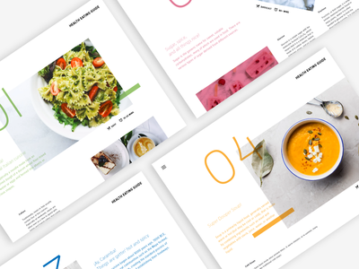Minimalist Healthy Eating Guide healthcare minimalist layout design ui tablet guide eat food healthy