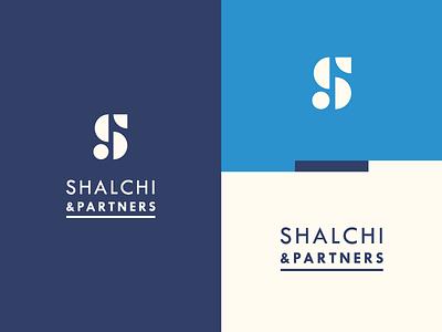 S&P Branding grid icon branding blue vector logo design typography