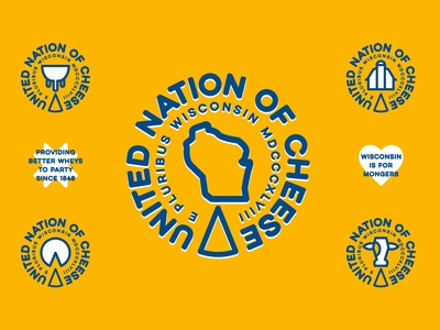Campaign Identity Concept farmer graphic design yellow mark brand party icons united logo seal barn quilt cow farm dairy wisconsin cheese branding identity