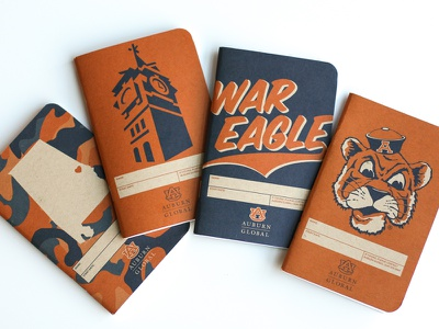 Auburn Notebook Pack camouflage alabama auburn field notes notebooks