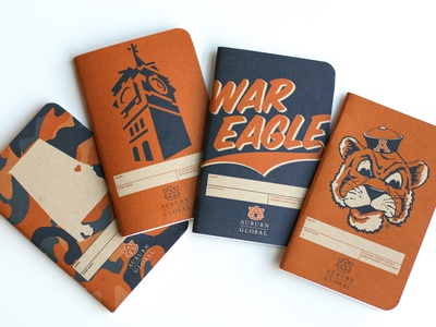 Auburn Notebook Pack camouflage alabama auburn field notes notebooks