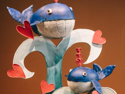 Whale You Be Mine? 3d illustration valentinesday sculpture chocolate