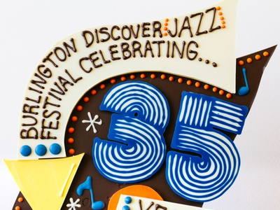 Celebrating the 35th Jazz Fest jazz 3d illustration sculpture hand lettering chocolate