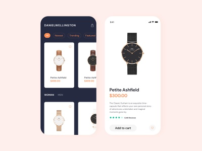 Watch app app illustration online store online shopping watches mobile interface user interface design clean ui andoid android app design ios mobile design app design ui ux
