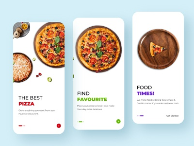 Pizza App ( On Boarding Screen ) minimal typography design user experience user interface user interface design design app ios app interaction design android app design ios app design app app design ux ui