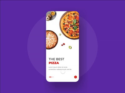 Pizza App ( On Boarding Screen ) food and drink ios app design prototyping minimalism clean interface animations interactive onboarding food app pizza ios user interface user experience userinterface user interface design interaction design interaction ui