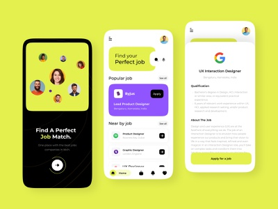 Job Finder App mobile ios user interface design clean ui ios app mobile design user experience user interface android app design job board jobs mobile app design mobile ui mobile app ios app design animated typography design ux ui