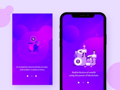 Stellite Wallet wallet ux ui simple mobile minimal ios design clean bitcoin app android