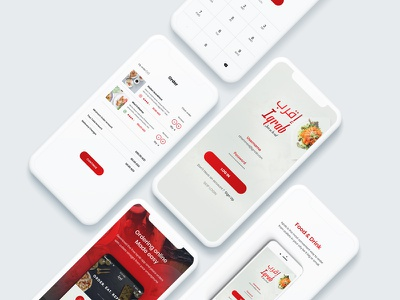 Iqrab App login ui screen splash menu profile design colors foodapp animation iphonex ios