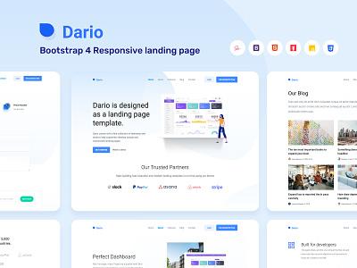 Dario Landing Page design vector profile webapp clean ui minimal landing product page web design illustration graph ui ux typography landing page design web landingpage