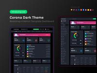 Corona Dark Dashboard