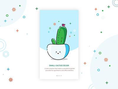 Plant Love zayeem mbe style walkthrough onboarding ui ux pot cactus plant decor