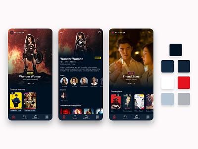 MAXstream Movie, TV, and Video Stream Apps Redesign debut redesign telkomsel indonesia designer indonesia movies app tv app video streaming app movie app movies movie app mobile ui mobile app ux ui