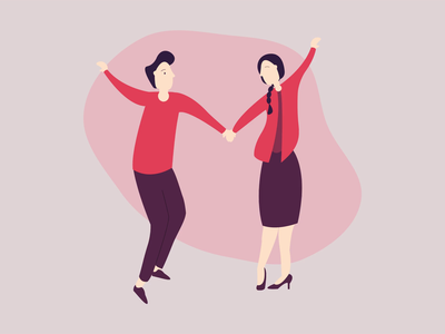 Cute couple in love ❤️ pattern debut flat clean minimal illustrator character video gif motion animation vector design illustration