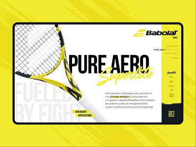Tennis Racket Catalog Concept ecommerce product details product page catalog web catalog website nadal babolat racket tennis microinteraction ui animation interaction design design adobexd aftereffects rapidgemsstudio rapidgems