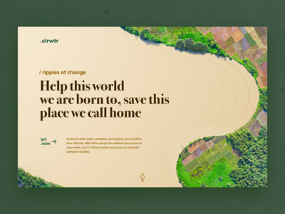 .clrwtr, an eco initiative concept