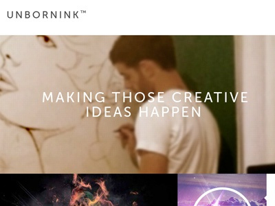 Free Unbornink Portfolio Template template freebie free download portfolio grid design