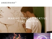 Free Unbornink Portfolio Template template freebie free download portfolio grid design
