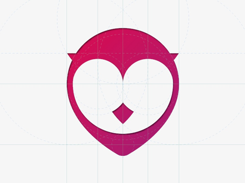 GigOwl Icon gigowl owl dropmark icon logo gig pink red
