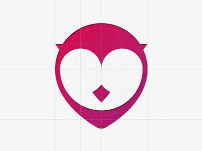 GigOwl Icon gigowl owl dropmark icon logo gig pink red