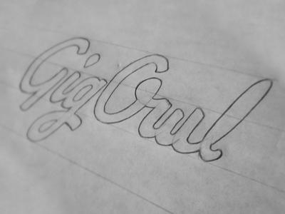 GigOwl Wordmark gigowl owl logo gig drawing workmark type handwritten