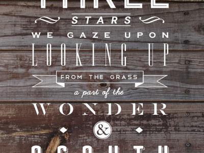 Alnilam alnilam typography stars wood type font quote