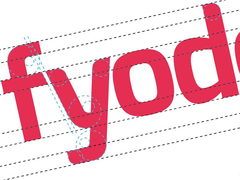 Fyodor logo brand id red f y white identity text typography