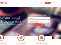 SoPromo-Large social competition marketing competitions red white clean responsive