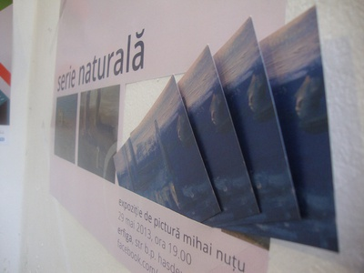 "Poster and Flyers* for ""Natural Series"" Painting Exhibition"