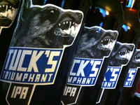 Tuck's Triumphant IPA Beer Label - Applied!