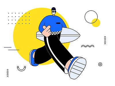 HaHa boy people illustration design