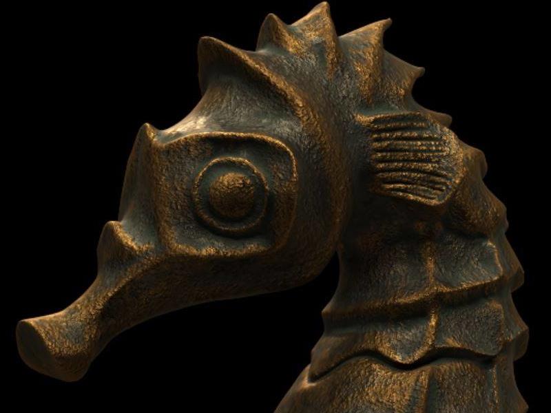 Seahorse bronze. sculpt 3dcoat