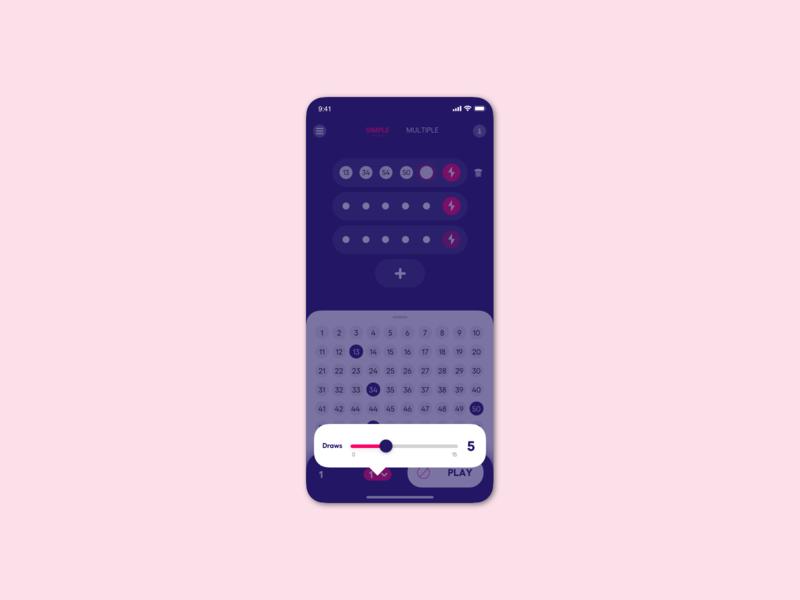 Lottery app subscription