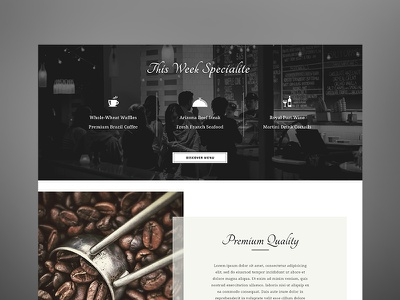Restaurant Template 2 uiux ux ui web design meat meal food hospitality organic fresh cafe restaurant
