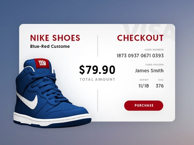 Credit Card Checkout - Daily UI #002 payout shoes nike checkout card credit ux ui daily 002 dailyui