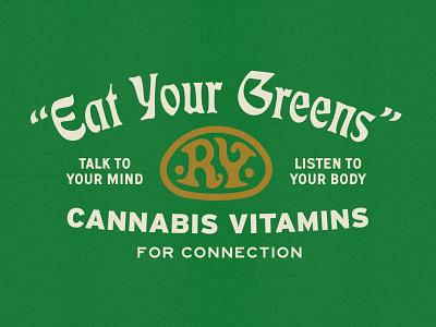 R.Y. Originals : Cannabis Vitamins weed logo branding cannabis