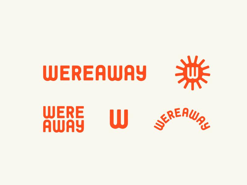 Wereaway lettering logotype red sun sunshine travel