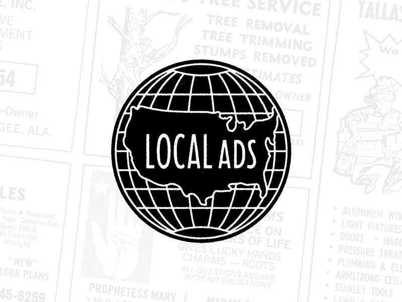 Local Ads lettering advertising vintage globe logodesign logo